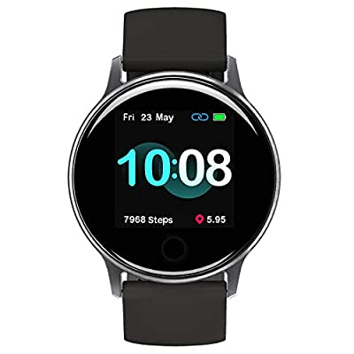 """Smart Watch, UMIDIGI Uwatch 2S Fitness Tracker Heart Rate Monitor, Activity Tracker with 1.3"""" Touch Screen, 5ATM Waterproof Pedometer Smartwatch Sleep Monitor for iPhone and Android."""
