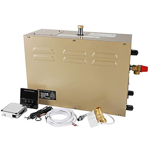 Digitaler Dampfgenerator, 4,5 kW, LCD-Display, für Dusche, Sauna, Bad, Zuhause, Spa, Dampfbadgenerator, 25 ~ 55 ℃, Timer: 30 Minuten bis 12 Stunden, für geeignete Raumheizung 4 m³ (380 V)