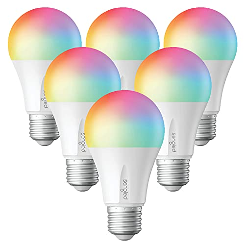 Sengled Zigbee Smart Light Bulbs, Smart Hub Required, Works with SmartThings and Echo with Built-in Hub, Voice Control with Alexa and Google Home, Color Changing 60W Eqv. A19 Alexa Light Bulb, 6 Pack
