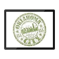 QuickmatプラスチックMousemat 8x10-オクラホマシティアメリカアメリカ旅行の職場/テーブルマット/マウスパッド/ワイプ可能/防水#5833