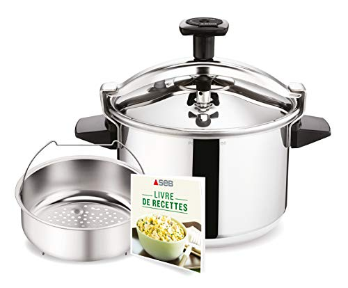 SEB AUTHENTIQUE 4,5L Cocotte-minute Inox Induction Autocuiseur Fabriqué en France P0530600