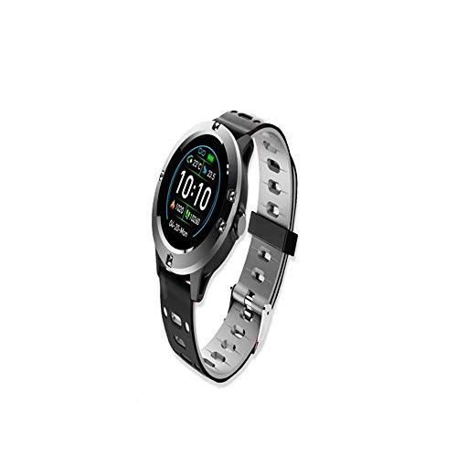 M-TK Elegante Smartwatch für Herren, Damen, kompatibel mit Android, iOS, Fitness-Tracker mit elegantem Look – Schwarz
