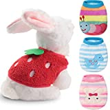Geyoga 4 Pieces Pet Costume Rabbit Caterpillar Horse Strawberry Pet Clothes Soft Pet Apparel Comfortable Pet Vest for Kitten Ferret Chihuahua Puppy and Small Animals (3XS and 2XS)
