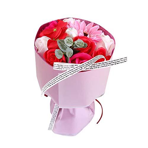 VNEIRW - Sapone a Forma di Fiore, Bouquet di Fiori secchi, Mazzo di Rose Artificiali, Decorazione Creativa