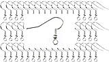 Miniblings 300x Ohrhaken Rohlinge versilbert - Ohrringe DIY selber machen basteln I Fischhaken Haken Set zur Schmuckherstellung - 19x22mm
