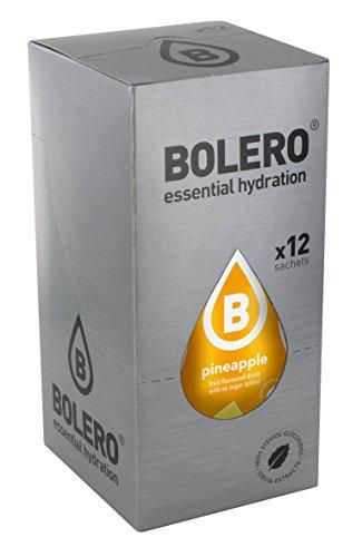 Bolero Bebida Instantánea sin Azúcar, Sabor Piña - Paquete de 12 x 9 gr - Total: 108 gr