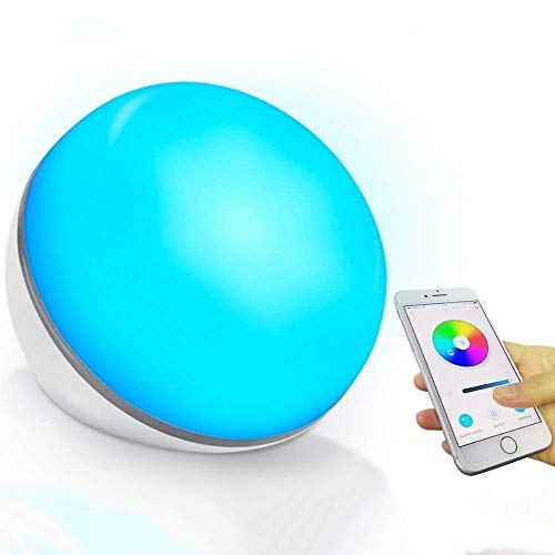 Lampada smart - LED wireless luce da comodino da tavolo intelligente Programmare con Amazon Alexa o Google Home tramite comando vocale USB alimentato Nessun adattatore【aggiornato con tuya smart】(1)