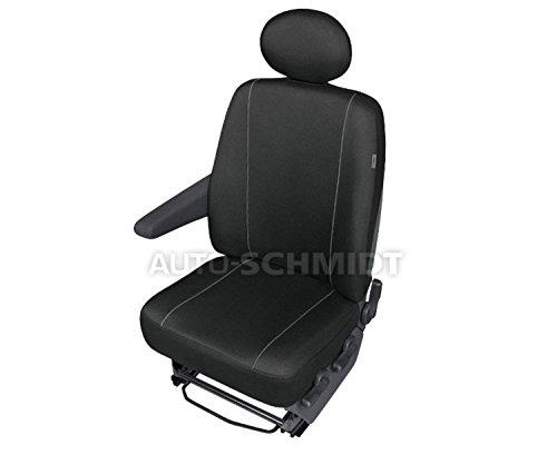 ZentimeX Z737100 Sitzbezüge Fahrersitz/Einzelsitz Armlehne rechts Stoff schwarz