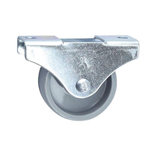 Döner + helmer 791130 - Muebles de ricino, 30 x 15 mm, gris rueda de plástico,