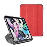 Pipetto Funda para iPad Air 10.9 (iPad Air 4) 2020 Origami Shield   Funda resistente a prueba de golpes 5 en 1 soporte   Apple Pencil 2 Carga   99.9% antibacteriano iPad Case - Rojo