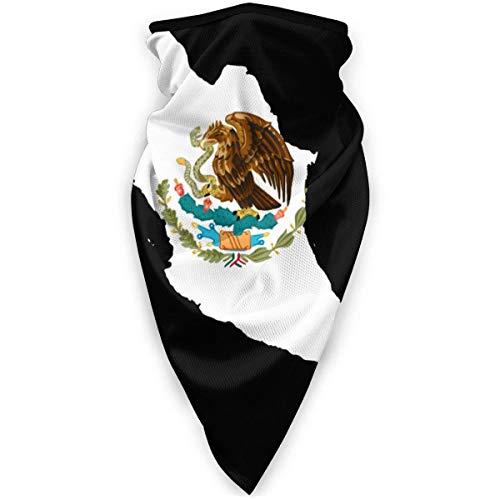 DFGHG Máscara y respirador Máscara Antipolvo Plegable Protección Facial Alergia antipolen Cool The History of The Mexican Flag Headband Neck Gaiters UV Mask Sun Protection Bandana Scarf for Me