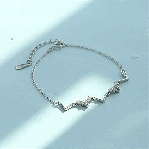 AKDLKXTS Necklace Stylish Simple V-Shaped Wave Shaped Bracelet Female Personality Small Fresh Student Honey Hand Jewelry Bracelet