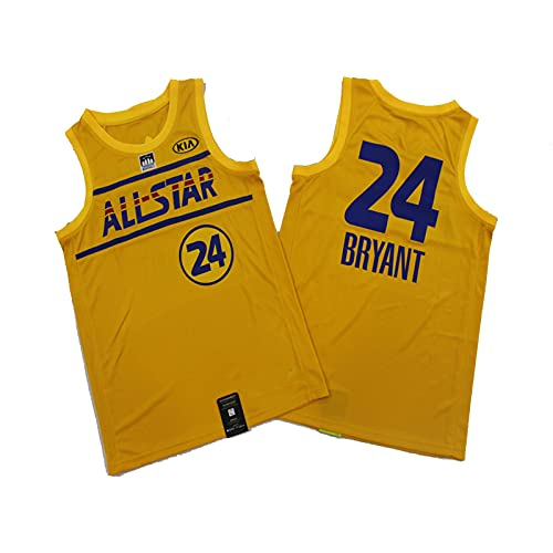 YDHZ Lakérs No. 24 Kobé Baloncesto Jersey, Malla Transpirable Fitness Sportswear S-XXL Yellow-L