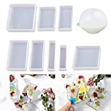 LET'S RESIN Epoxy Resin Molds Resin Casting Molds Silicone Square Ball Molds 9PCS Differen...