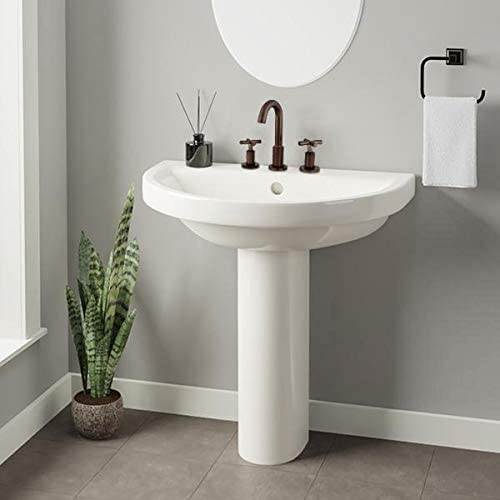Magnus Home Products Lyons Vitreous Pedestal China Sink Recommended Super-cheap Bathroom