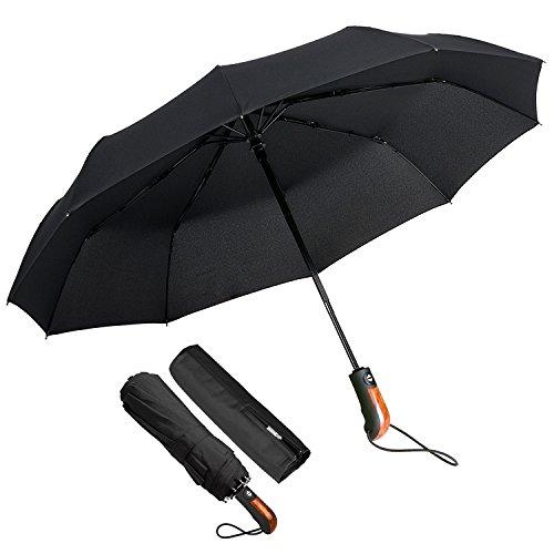 ECHOICE Paraguas plegable compacto a prueba de viento portátil ligero con tapa