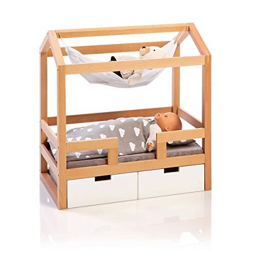 MUSTERKIND Puppen-Hausbett - Barlia Natur/weiß aus Holz