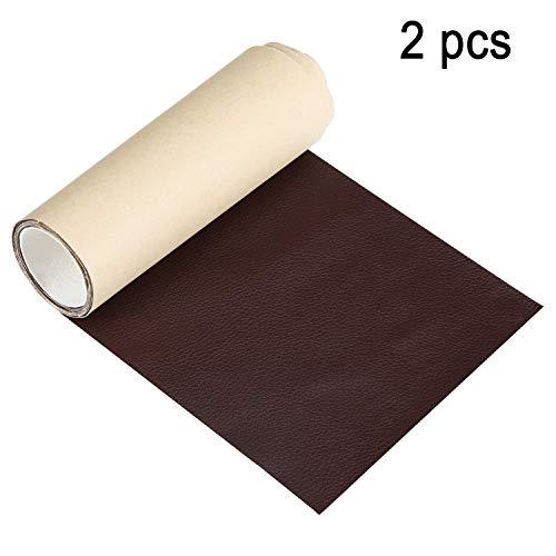 2 Piezas de Reparación de Cuero Parches Cintas de Reparación de Cuero Autoadhesivas para Sofá Sofá Muebles Asientos, 3 x 55 Pulgadas