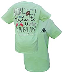 Southern Couture Womens Come Tailgate with Us Short-Sleeve Tee Shirt