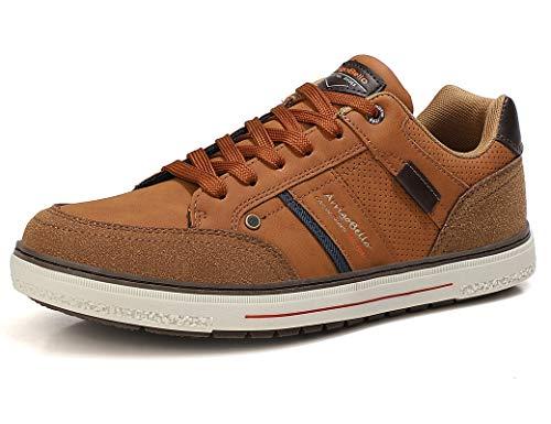 ARRIGO BELLO Zapatos Hombre Vestir Casual Zapatillas Deportivas Transpirables Sneaker Caminar Correr Cómodo Casuales Moda Negocio Talla 41-46 (Marrón, Numeric_44)