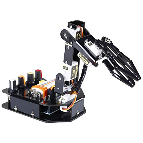 SUNFOUNDER Roboter Bausatz 4-Achsen Servo Steuerung Rollarm, 180-Grad-Drehung, Elektronik Baukasten Programmierbare für Arduino Roboter Spielzeug für Kinder und Erwachsene
