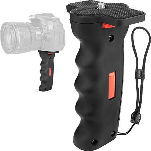 Camera Handle Grip,1/4' Camera Handheld Stabilizer with Wrist Strap,Chromlives Handle Grip Support Mount for DSLR Camera Camcorder Smartphone Action Camera Led Video Light