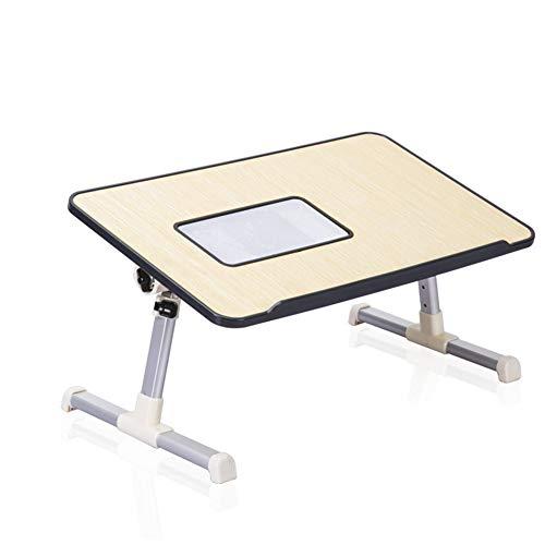 PDFF Computertisch Mit, Schreibtisch Einfache Laptop-Tisch Folding Hubbett Kühl Studenten Lesen Akademisches Lernen Schreibtisch-Computer-Schreibtisch Mit Ventilator,a