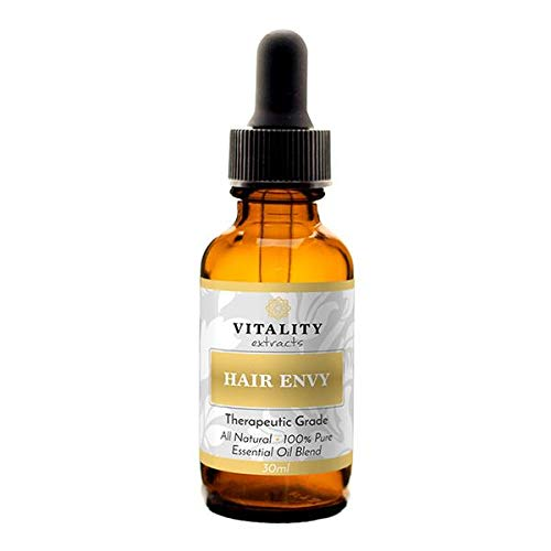 Vitality Extracts - Hair Envy Essential Oil Blend- 100% Pure, Therapeutic Grade, High Potency (30ml) - GCMS Tested, All Natural, Shine, Soften, Strengthen