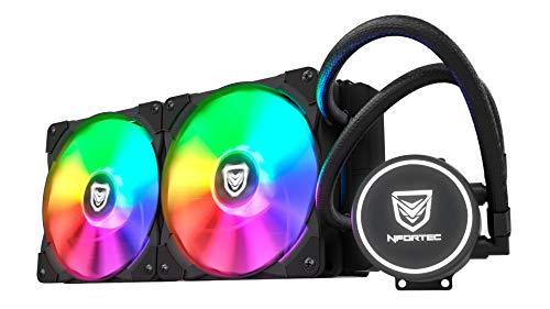 Nfortec Hydrus RGB Refrigeración Líquida 240mm con Retroiluminación RGB y Ventiladores de 120mm con PMW Integrado