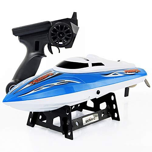 Pinjeer Barco de control remoto para niños súper grandes Barco de alta velocidad en lancha Carga de barco Barco de motor Control remoto Barco de carreras Lancha rápida Agua fría Regalos para n