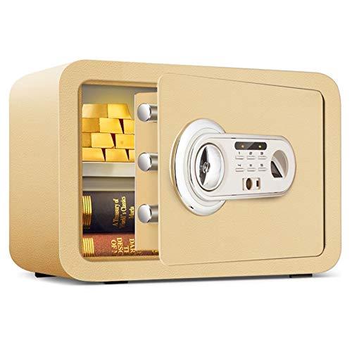XHMCDZ Caja Fuerte, Caja de Seguridad biométrico de Huellas Dactilares, de Protección, joyería y Dinero en Efectivo, Adecuado for Uso en Casas, hoteles, residencias y oficinas