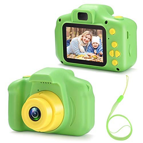 VATENIC Kids Toys for 3-10 Year Old Boys Girls, Kids Camera 1080P 2inch HD Children Digital Cameras for Girls Best Birthday Toys,Toddler Camera Gift for 3-9 Year Old Boy (with 32G SD Card) (Green)