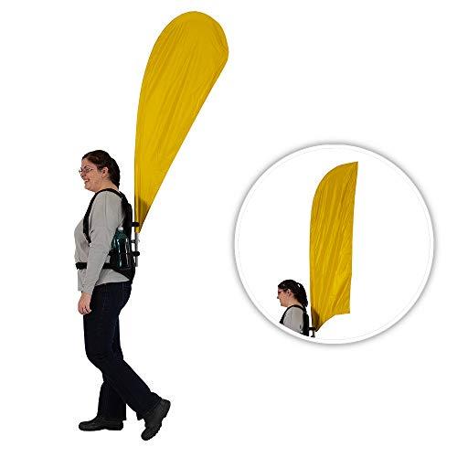 Vispronet Walking Backpack Display, Blade Feather Flag Hardware – Human Billboard Backpack Display, Fits 1.6ft x 4.9ft Blade Feather Flag or a 1.8ft x 4.3ft Teardrop Feather Flag (Flag Not Included)