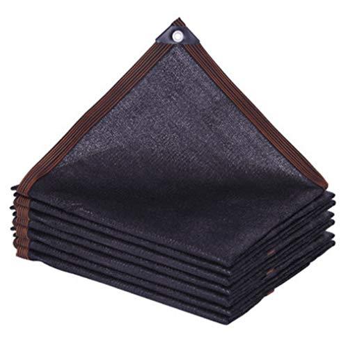 FCCD Solar Malla Sombrilla Tejado Exterior Espesar Toldos Terraza Malla Defensas UV Cobertizo Parasol Jardin Protección del Borde Sombra,Tasa de sombreado del 80% Negro(13.1 * 16.4ft(4 * 5m))