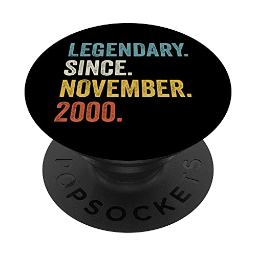 Legendary Since 2000 21 cumpleaños PopSockets PopGrip Intercambiable