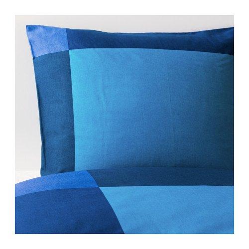 IKEA(イケア) BRUNKRISSLA ブルー 150x200/50x60 cm 80173247 掛け布団カバー&枕カバー、ブルー