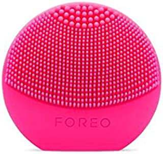FOREO Luna Play Plus Portable Facial Cleansing Brush, Fuchsia, 87g
