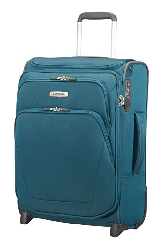 SAMSONITE Spark SNG - Upright 55/20 Expendable with SmartTop Equipaje de Mano, 55 cm, 48,5 Liters, Azul (Petrol Blue)