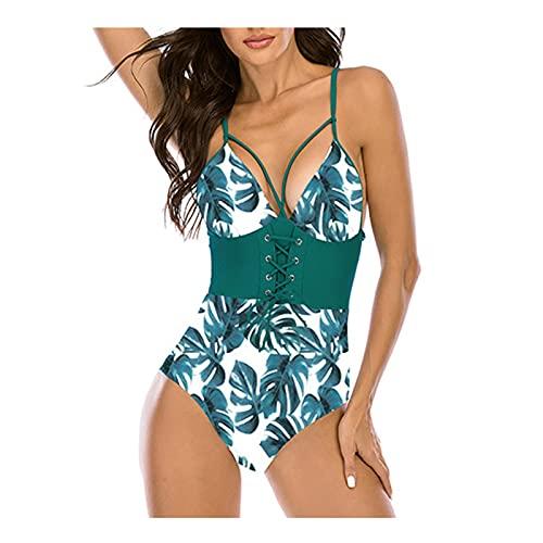 TGTB Nuevas mujeres traje de bao Strappy de una sola pieza Sling traje de bao temperamento gran pecho traje de bao V cuello estilo bikini