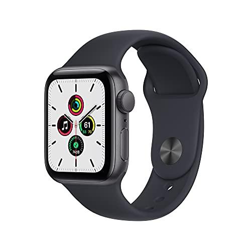 2021 AppleWatchSE (GPS) Cassa 40mm in alluminio grigio siderale con Cinturino Sport color mezzanotte - Regular