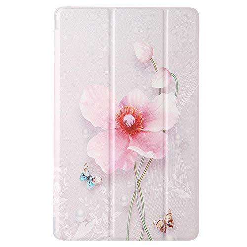 GHC Pad Fundas & Covers para Samsung Galaxy Tab A 7.0 T280 T285 8.0 T290 T295 10.1 2019 T510 T515, Soporte Trasero a Prueba de Golpes Tablet Funda de impresión Floral para Samsung Galaxy Tab A 7.0