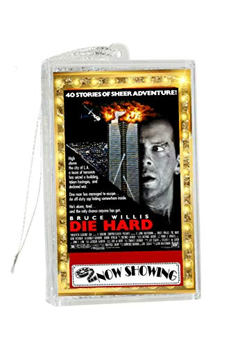 Telesca Die Hard Classic Movie Poster Snowglobe Christmas Holiday Tree Ornament Limited Edition
