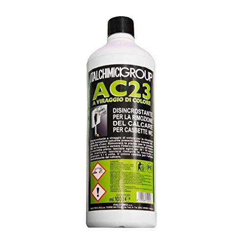 italchimici group Disincrostante AC23 per Cassette WC Incasso Geberit e Cassette WC Esterne per la Rimozione del Calcare - 1 litro