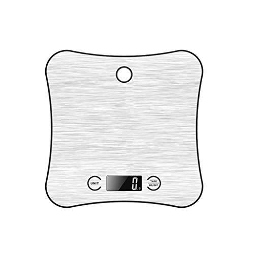 Mjd Bilance Keukenmachine voor huishoudelijk gebruik, elektronische Bilance, klein, roestvrij staal, precisietabel, aangedreven van roestvrij staal, 1 g waterpas