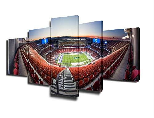 Wanddekoration Spiel Gemälde Stadion Bilder American Football Wandkunst 5 Stück Leinwand Wohnkultur HY.Bohu