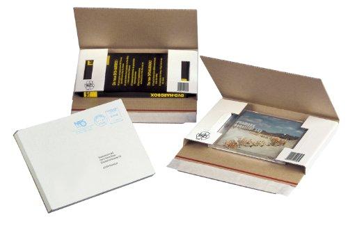NIPS 146182161 CD/DVD-CASE Versandverpackung ohne Fenster, 223 x 155 x 20 mm, 10er Packung, weiß