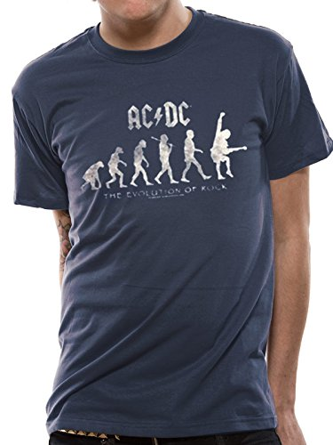 Cid AC/DC-Evolution of Rock T-Shirt Homme, Multicolore, FR : S (Taille Fabricant : S)