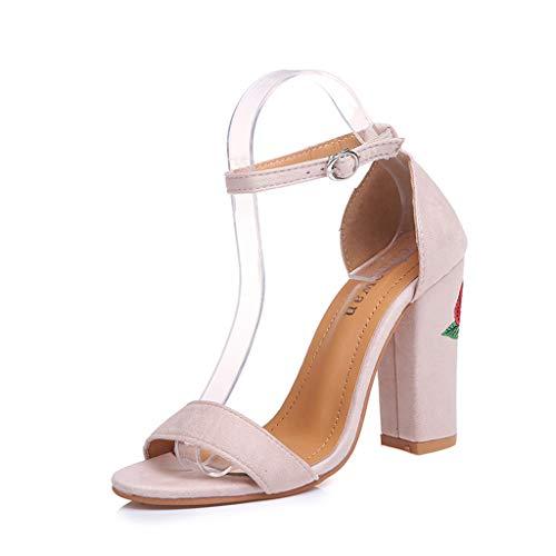 UMore Mujer Zapatos de Tacón Alto Verano Sandalias de Mujer Zapatos de...
