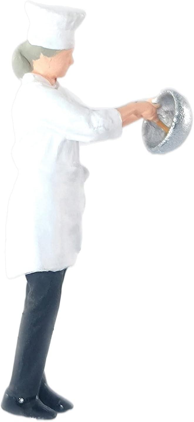 Almencla Painted Model Train People Figures Max 71% OFF Figu Restaurant Max 70% OFF Chef