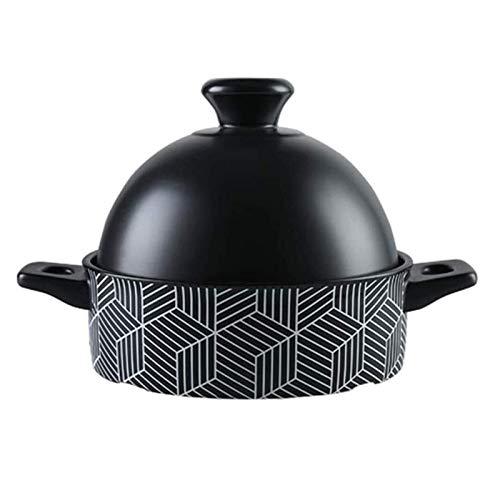 X-LSWAB Casserole Hitzebeständige und nachhaltige Pan Keramik Bräter mit Deckel Ideal for Slow Cooker Schmoren 1.3 L Slow Cooker Geeignet for Familien Küche (Color : Taji Pot, Size : 1.3L)